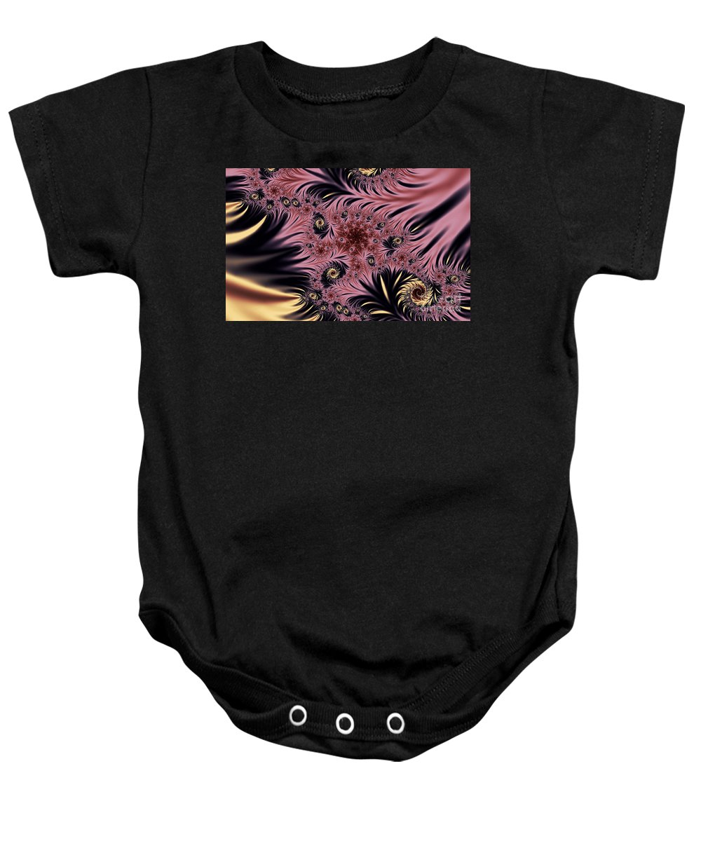Clay Baby Onesie featuring the digital art Silken Pleasures by Clayton Bruster