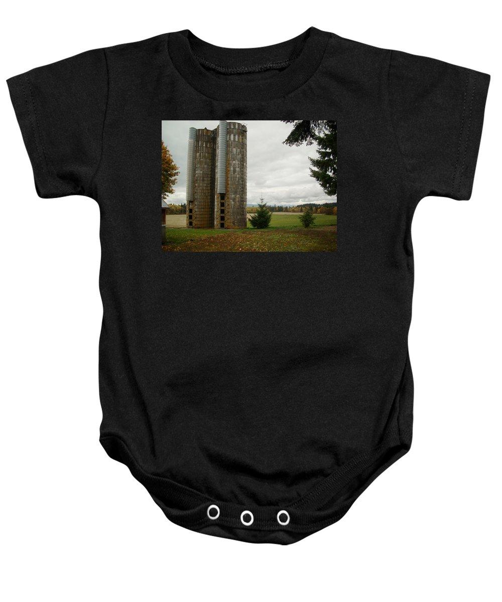 Farm Baby Onesie featuring the photograph Silo 1 by Sara Stevenson