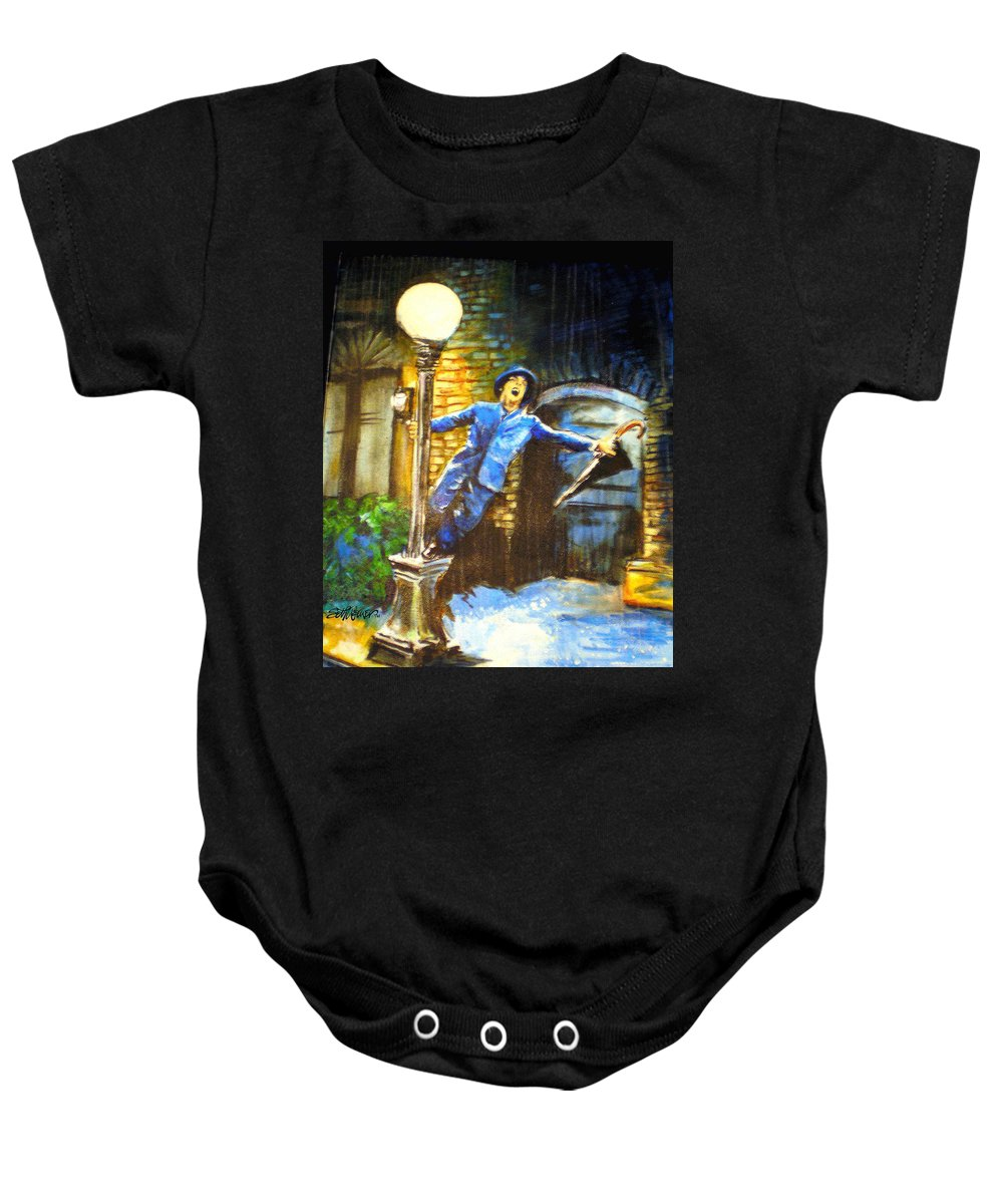 Singin In The Rain Baby Onesie featuring the painting Singin In The Rain by Seth Weaver
