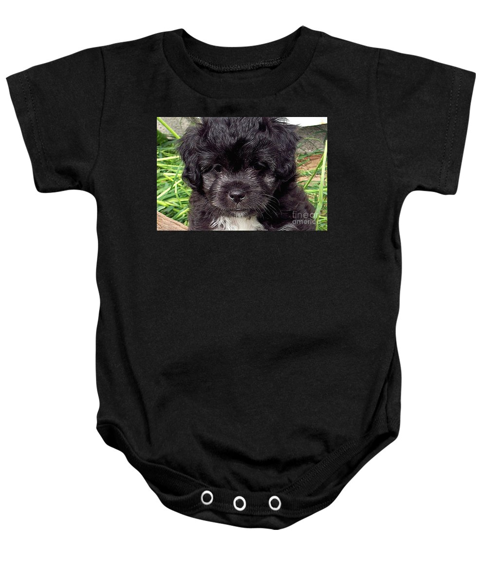 Baby Baby Onesie featuring the photograph Sissy by Robert Orinski