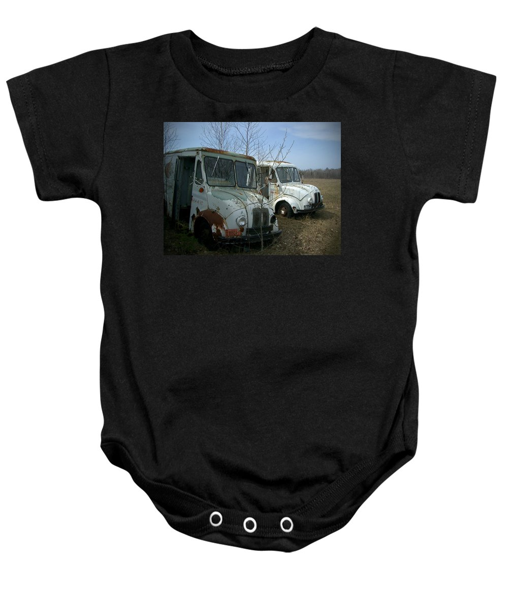 Trucks Baby Onesie featuring the photograph Sisters by Tim Nyberg
