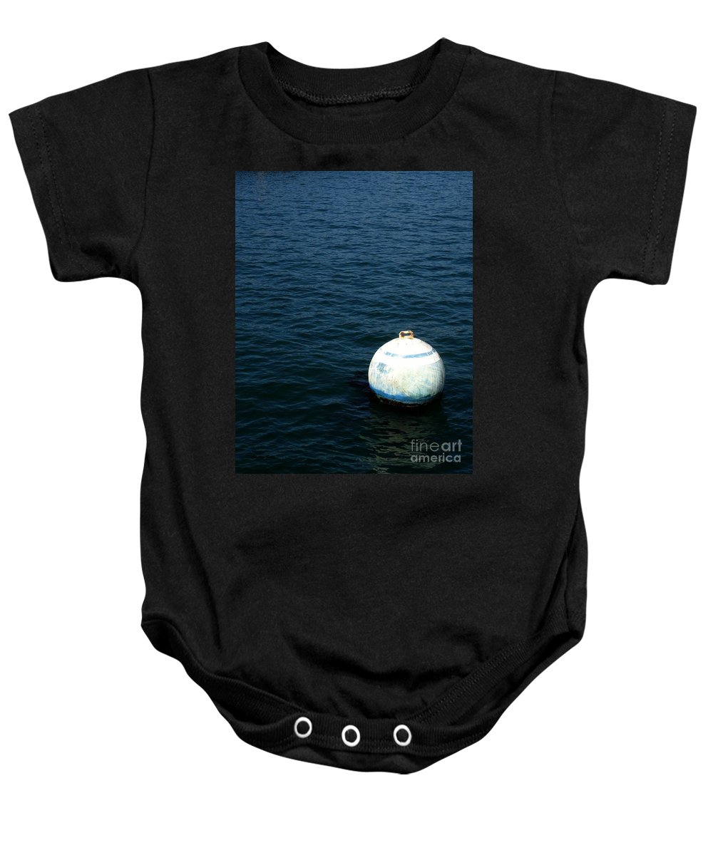 Seascape Baby Onesie featuring the photograph Sit and Bounce by Shelley Jones