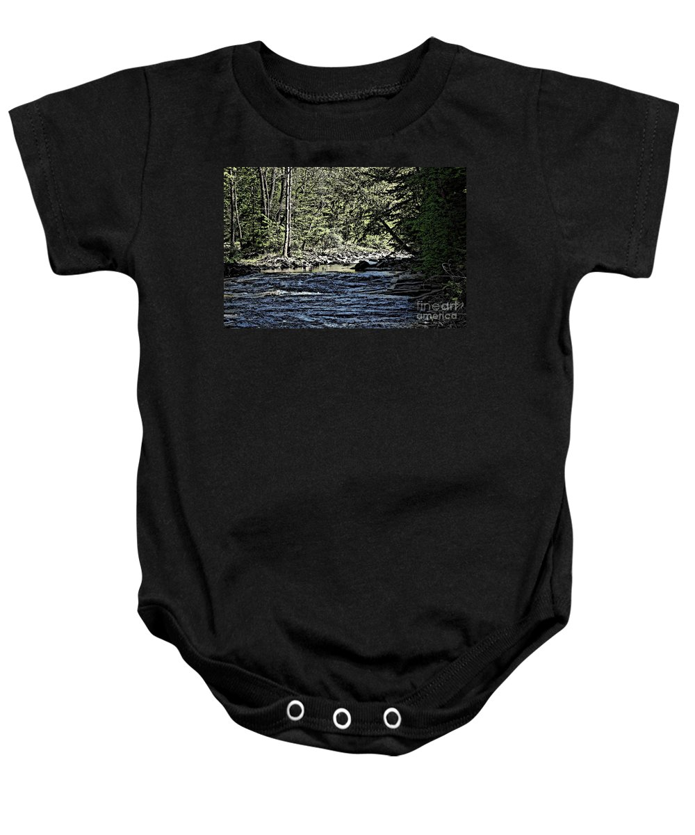 Landscape Baby Onesie featuring the photograph Six Mile Creek Ithaca Ny by David Lane