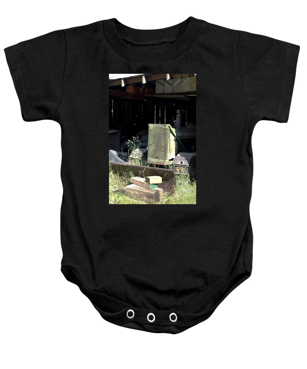 Backhoe Baby Onesie featuring the photograph Skid by Sara Stevenson