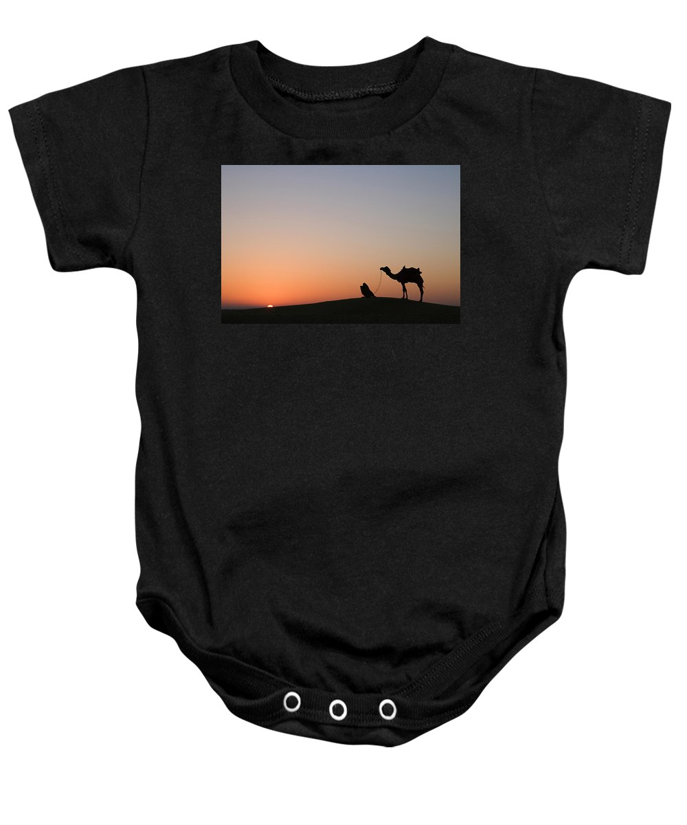 Desert Baby Onesie featuring the photograph Skn 0868 Sunrise View by Sunil Kapadia
