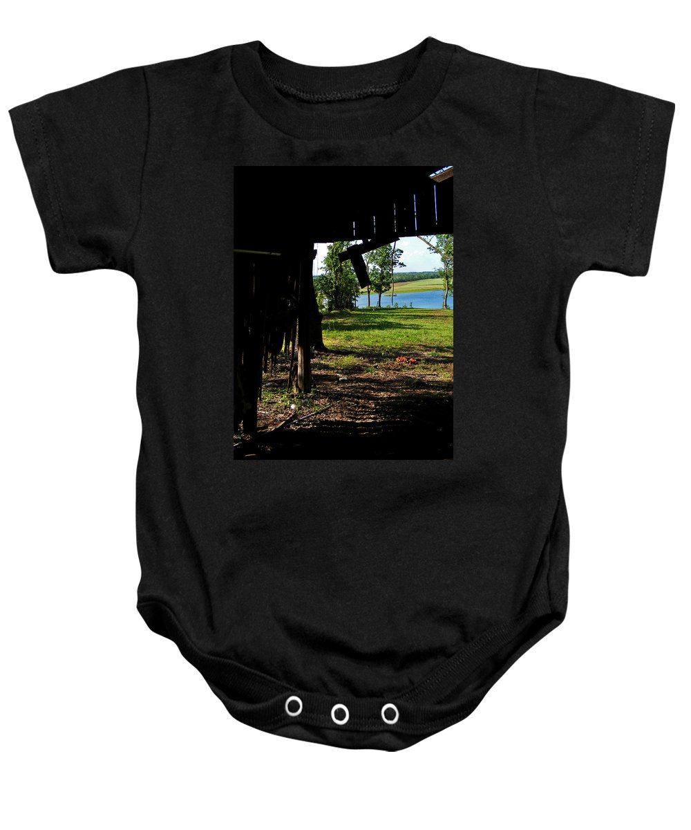 Landscape Baby Onesie featuring the photograph Skylights by Rachel Christine Nowicki