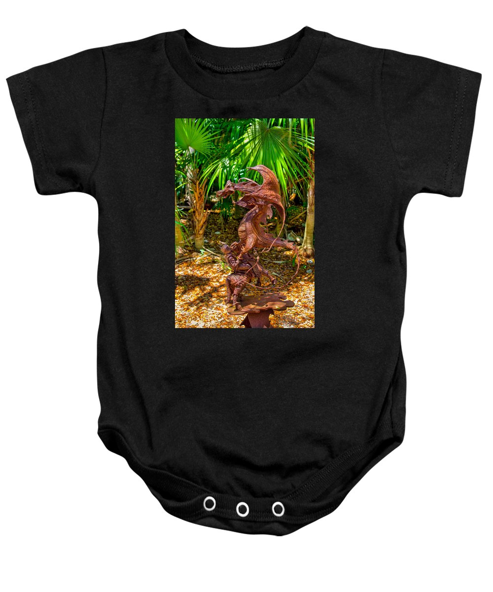 Ancient Baby Onesie featuring the photograph Slaying Dragons by John M Bailey