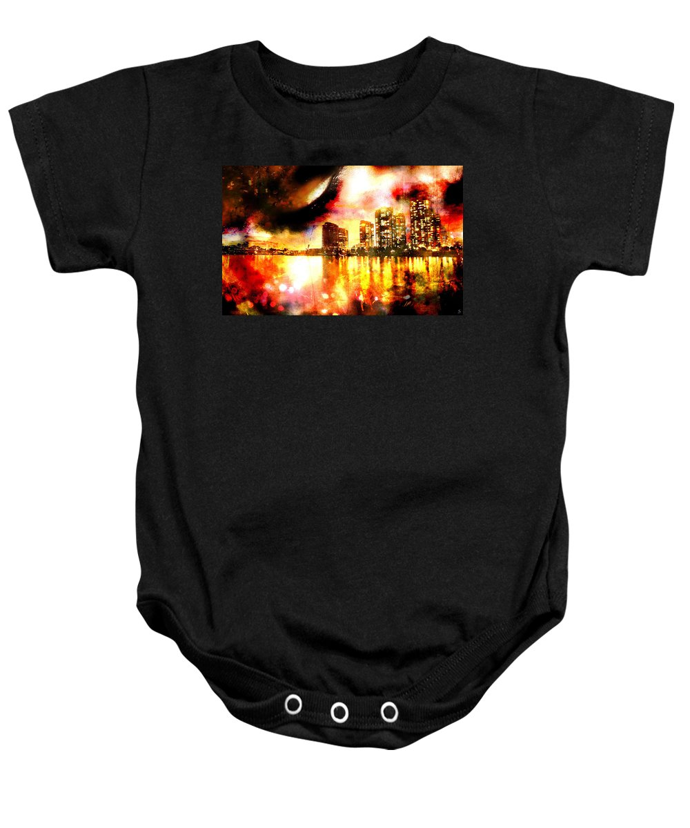 City Baby Onesie featuring the photograph Sleeper by Ken Walker