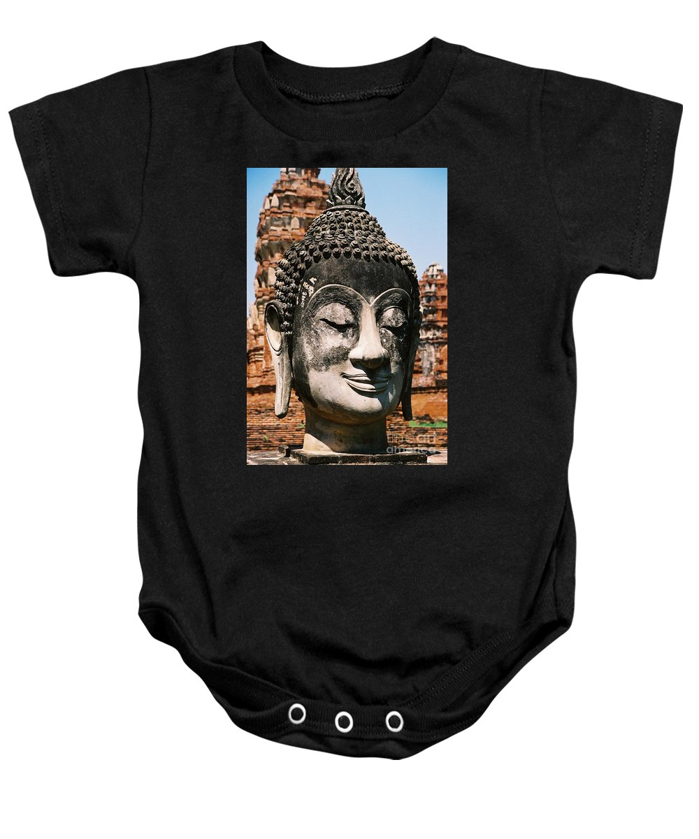 Statue Baby Onesie featuring the photograph Sleepy Face by Mary Rogers