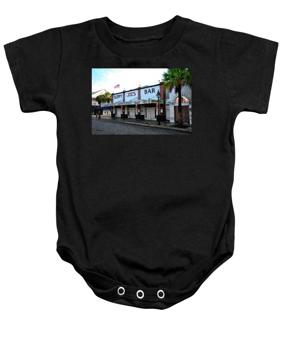 Sloppy Joe's Bar Key West Baby Onesie featuring the photograph Sloppy Joe's Bar Key West by Bill Cannon