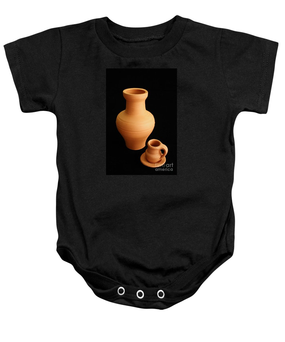 Ceramics Baby Onesie featuring the photograph Small Pottery Items by Gaspar Avila