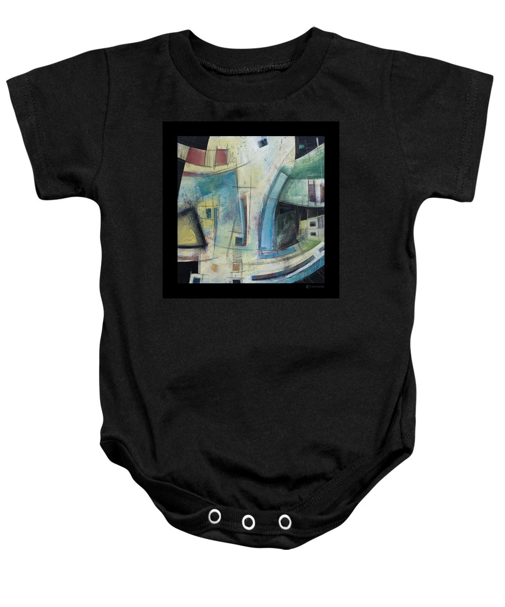 Abstract Baby Onesie featuring the painting Small Town Blues by Tim Nyberg