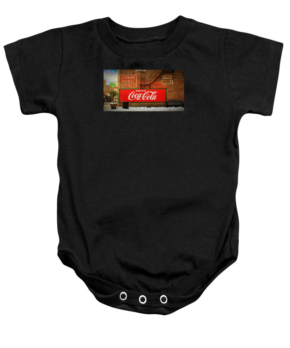 Mebane Baby Onesie featuring the photograph Small Town Usa - Mebane, Nc by Sandra Bennett