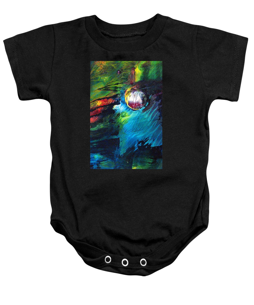World Baby Onesie featuring the painting Small World by Janice Nabors Raiteri