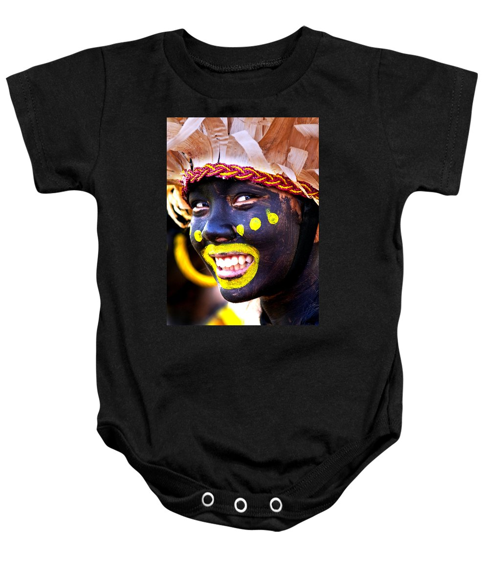 Festival Baby Onesie featuring the photograph Smile by George Cabig