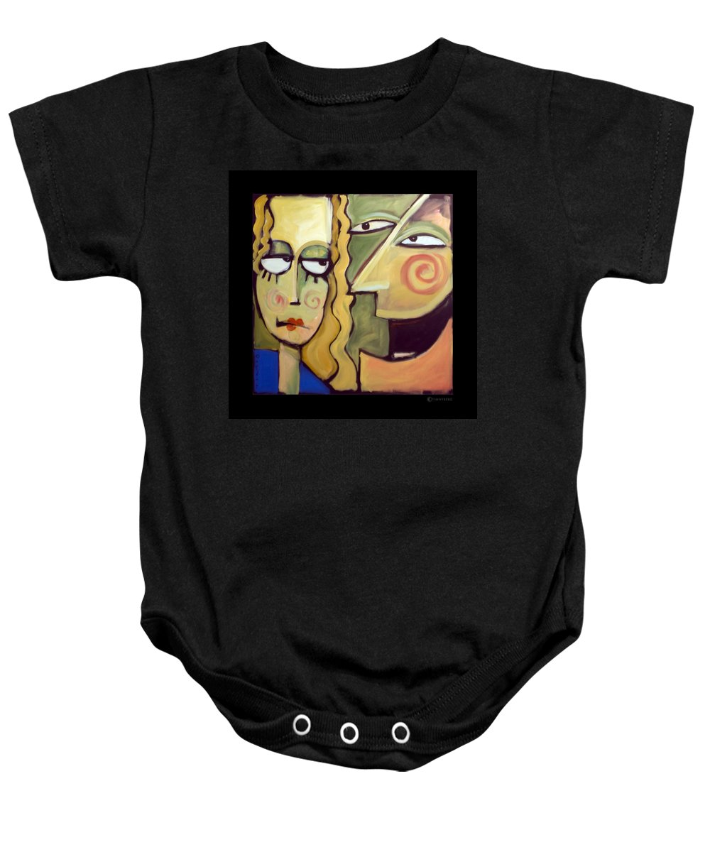 Humorous Baby Onesie featuring the painting Smile by Tim Nyberg