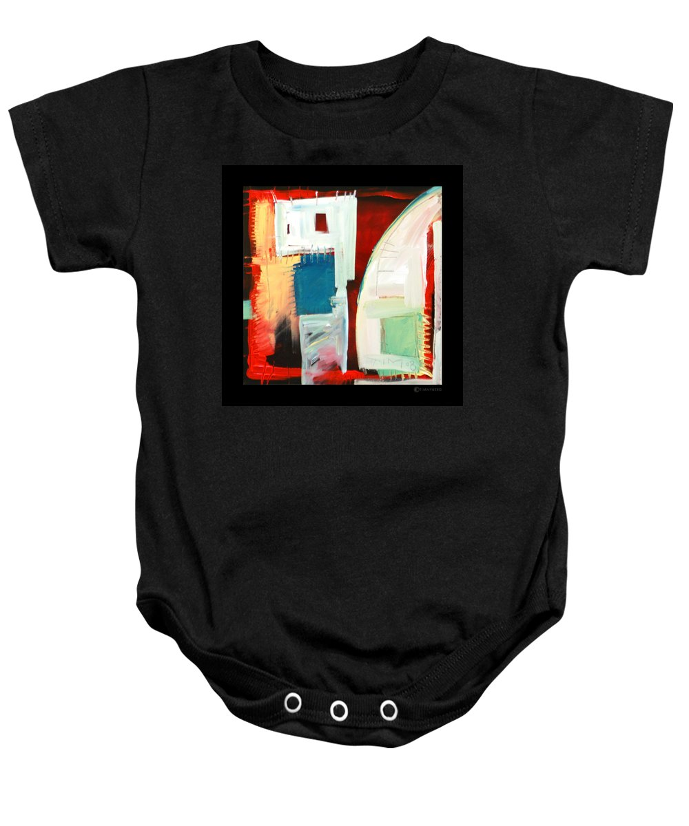 Color Baby Onesie featuring the painting Smilin by Tim Nyberg