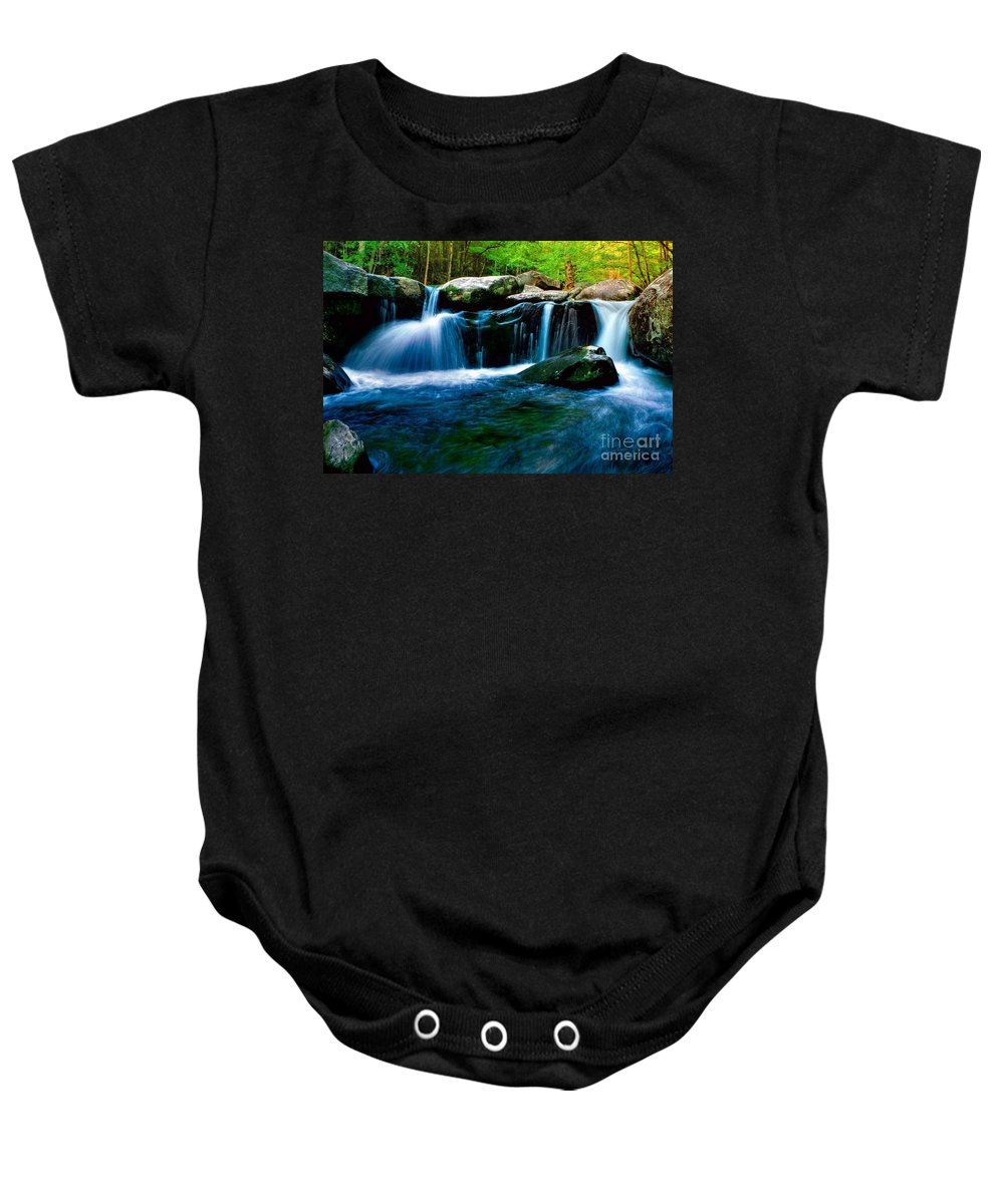 Smoky Mountains Baby Onesie featuring the photograph Smokey Mountains Mountain Stream 4 by Randy Matthews