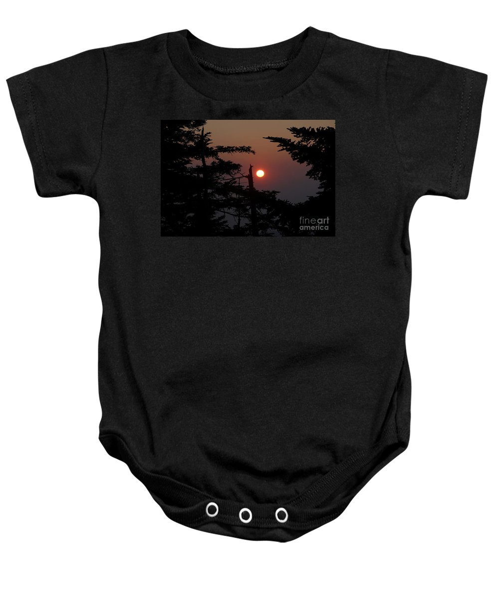 Smoky Mountain National Park Baby Onesie featuring the photograph Smoky Mountain Sunset by David Lee Thompson