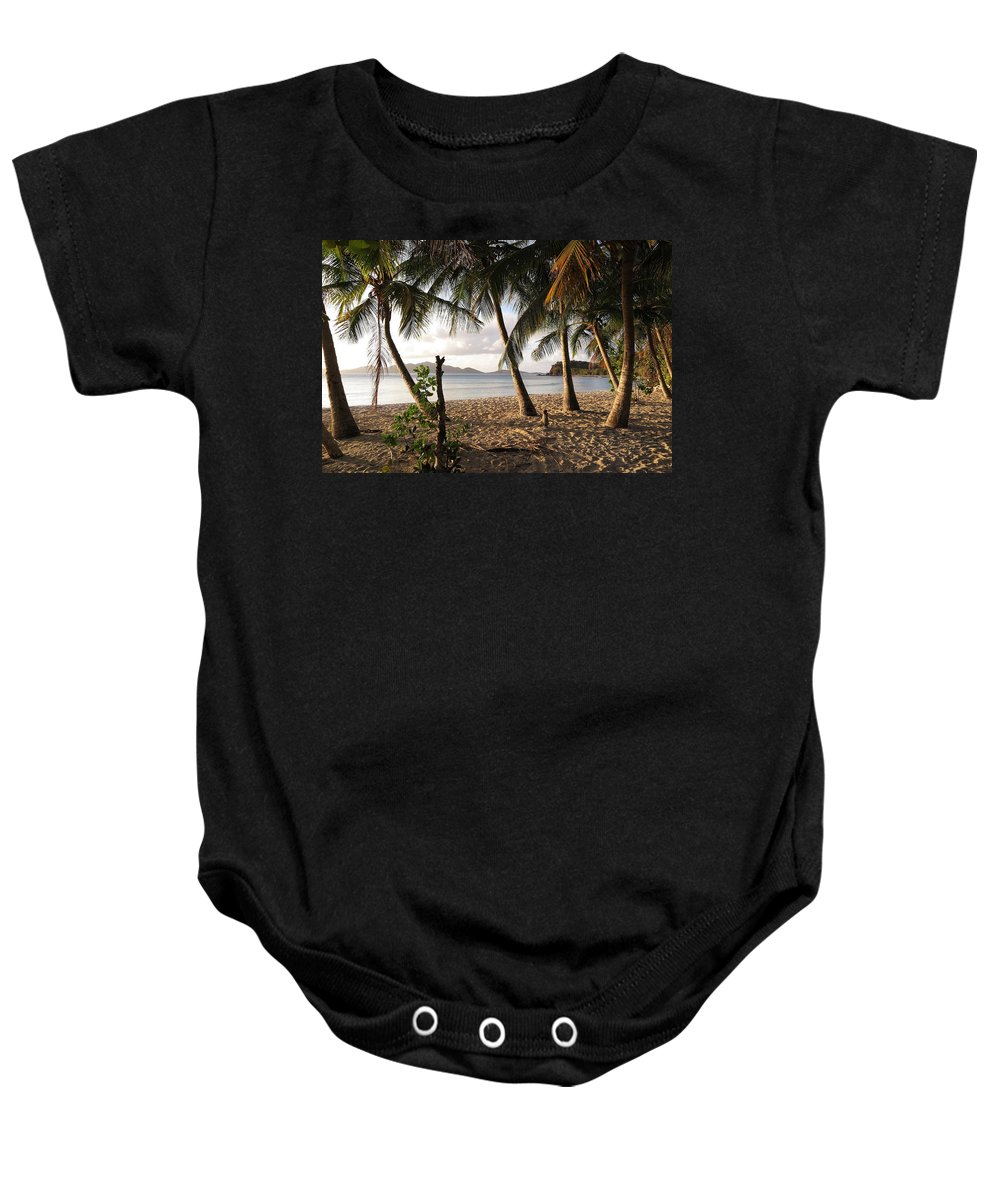 Tortola Baby Onesie featuring the photograph Day's End by Eric Glaser