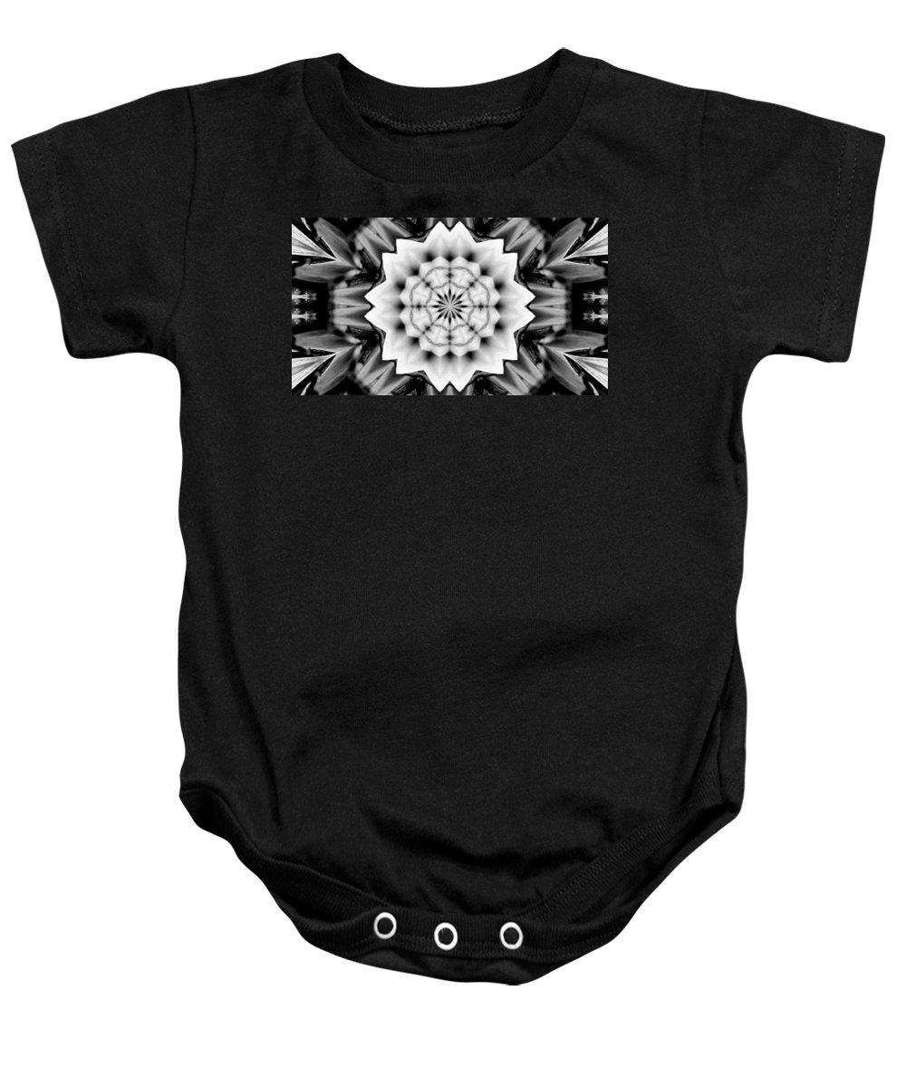 Digital Art Baby Onesie featuring the digital art Snowflake 9 by Belinda Cox
