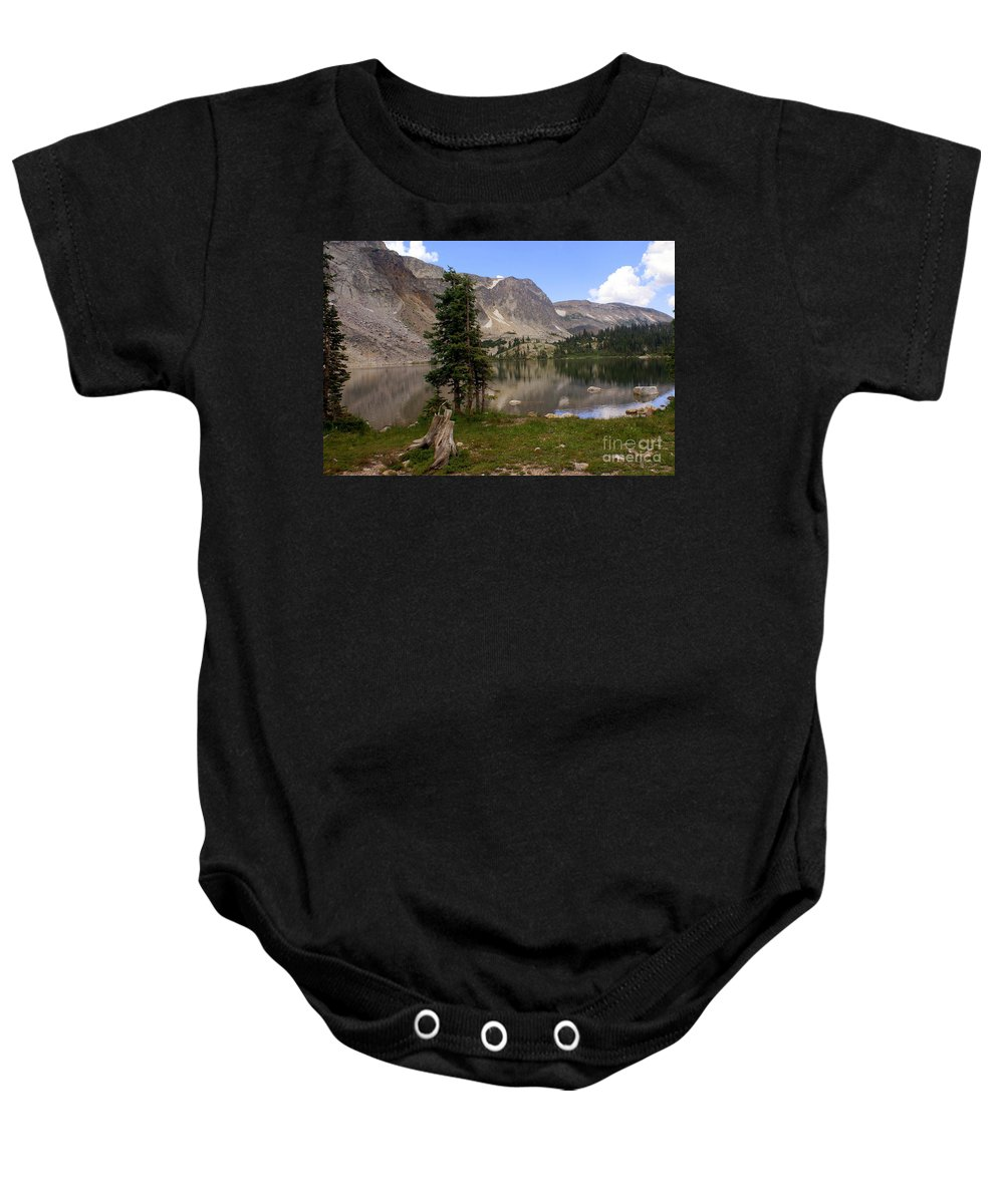 Snowy Mountains Baby Onesie featuring the photograph Snowy Mountain Loop 1 by Marty Koch