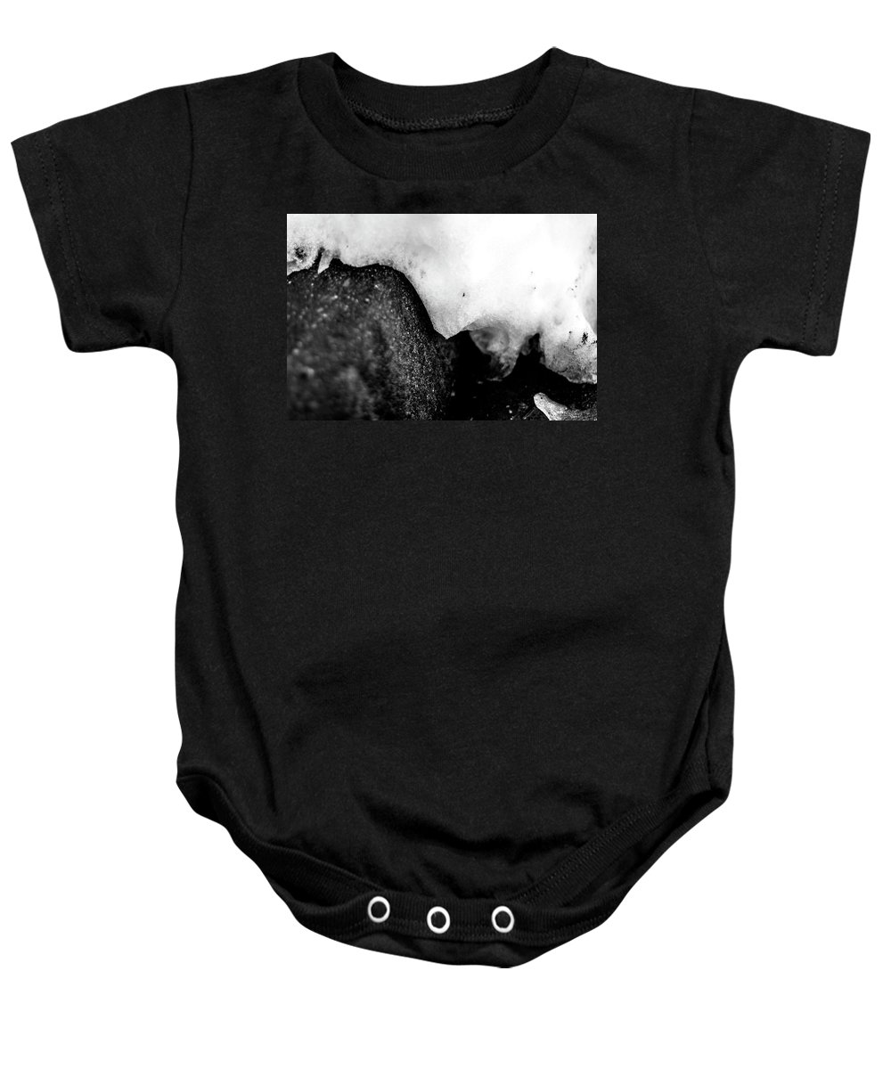 Photograph Baby Onesie featuring the photograph Snowy Underhang by Nicole Parks