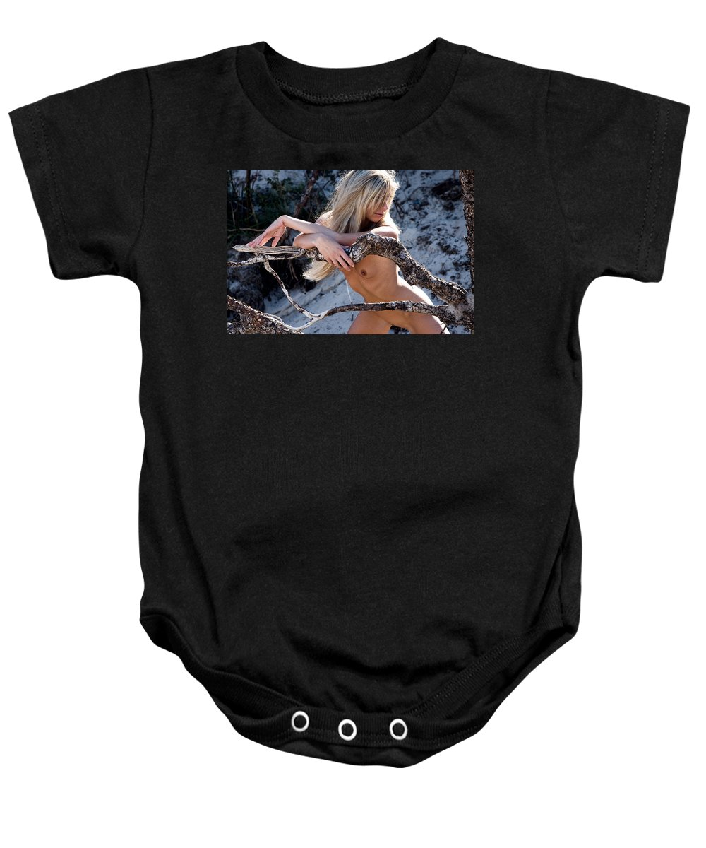 Sensual Baby Onesie featuring the photograph So Far Away by Olivier De Rycke