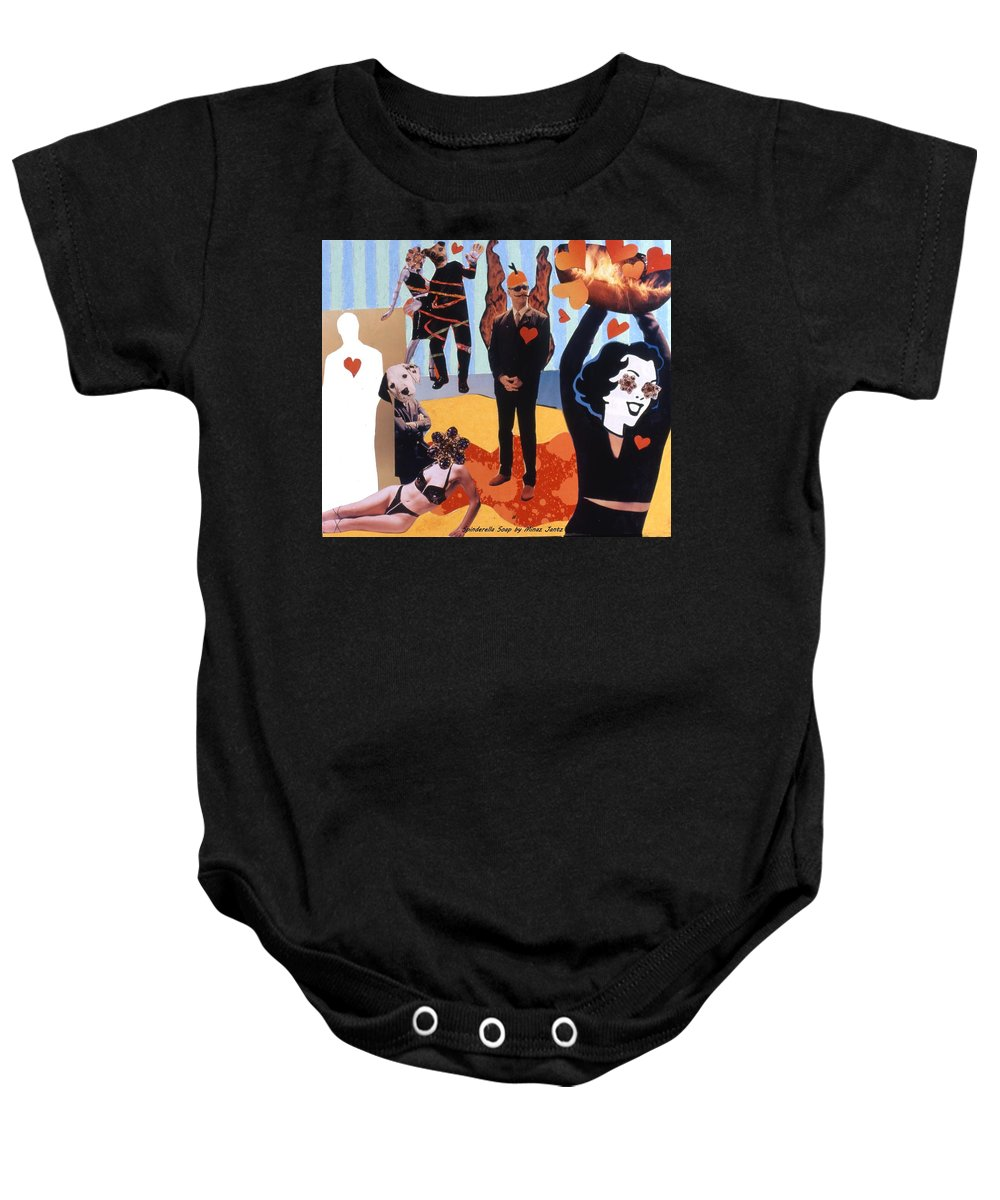 Hearts Baby Onesie featuring the drawing Soap Scene #18 Burn In Heaven At The Club Relish by Minaz Jantz