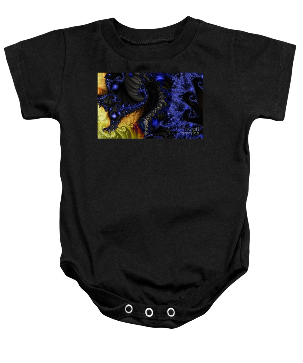 Clay Baby Onesie featuring the digital art Social Classes by Clayton Bruster