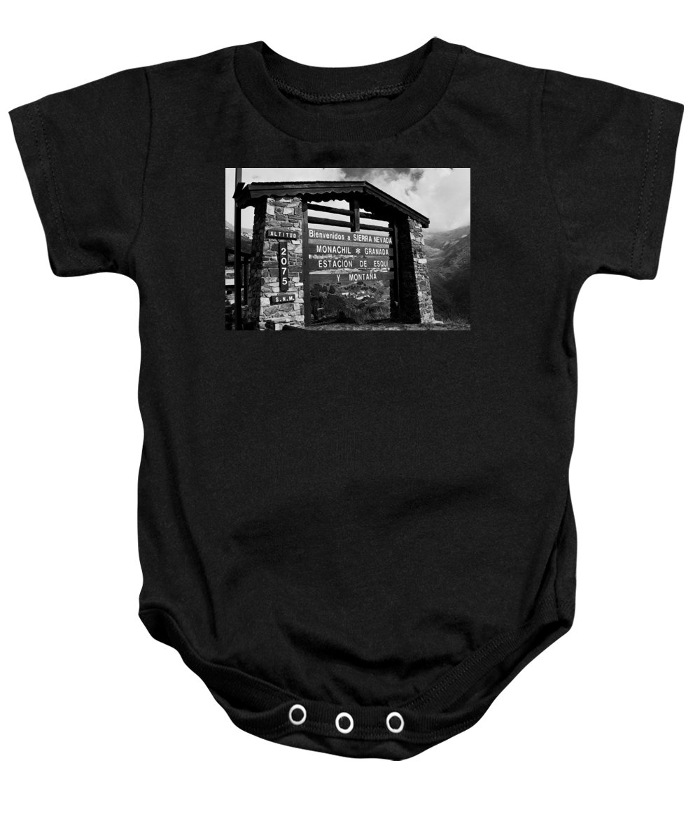 Europe Baby Onesie featuring the photograph Sol Y Nieve ... by Juergen Weiss
