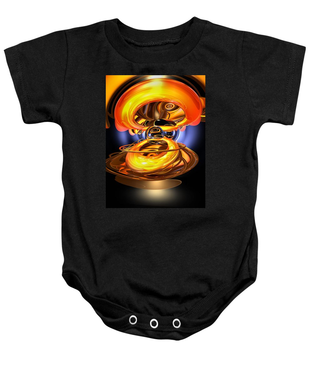 3d Baby Onesie featuring the digital art Solar Flare Abstract by Alexander Butler