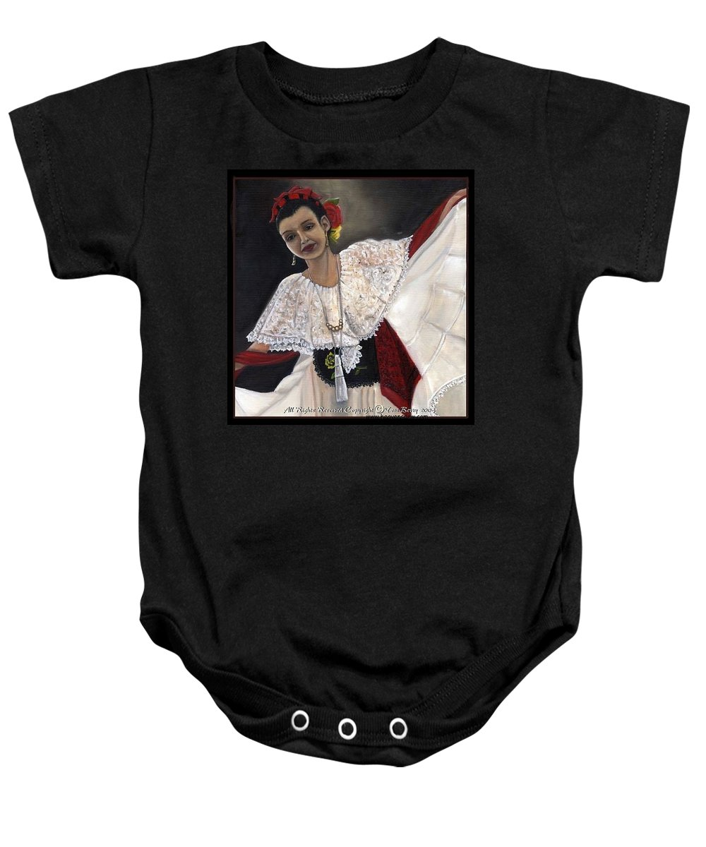 Baby Onesie featuring the painting Solita by Toni Berry