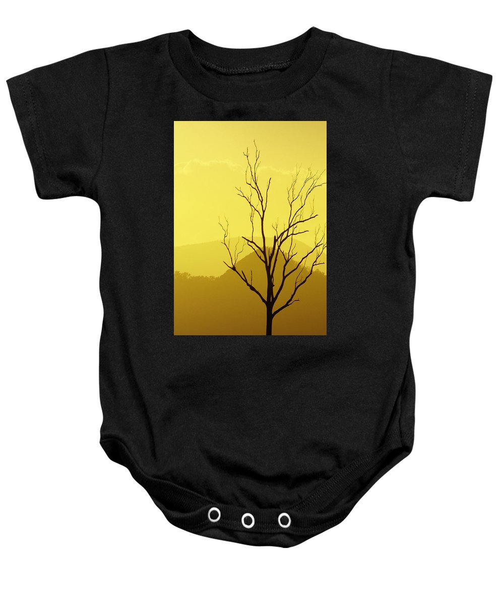 Landscape Baby Onesie featuring the photograph Solitude by Holly Kempe