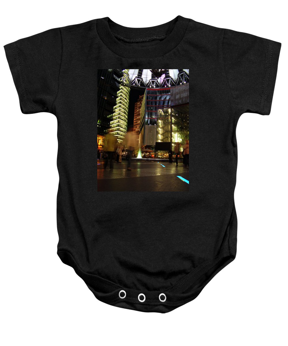 Sony Center Baby Onesie featuring the photograph Sony Center by Flavia Westerwelle