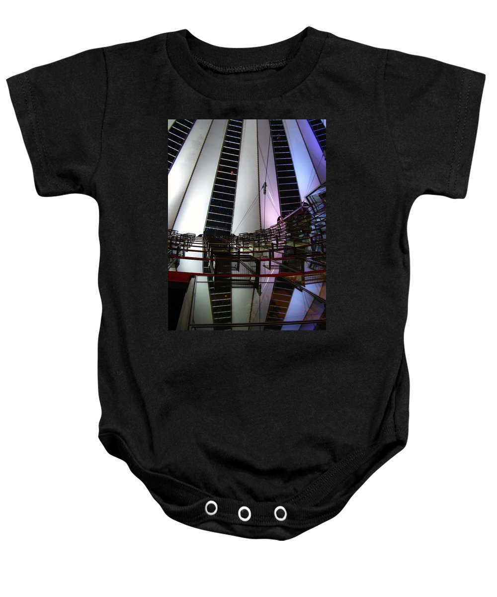 Sony Center Baby Onesie featuring the photograph Sony Center II by Flavia Westerwelle