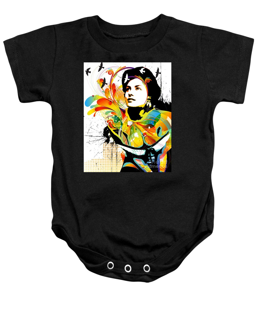Nostalgic Seduction Baby Onesie featuring the digital art Soul Explosion I by Chris Andruskiewicz