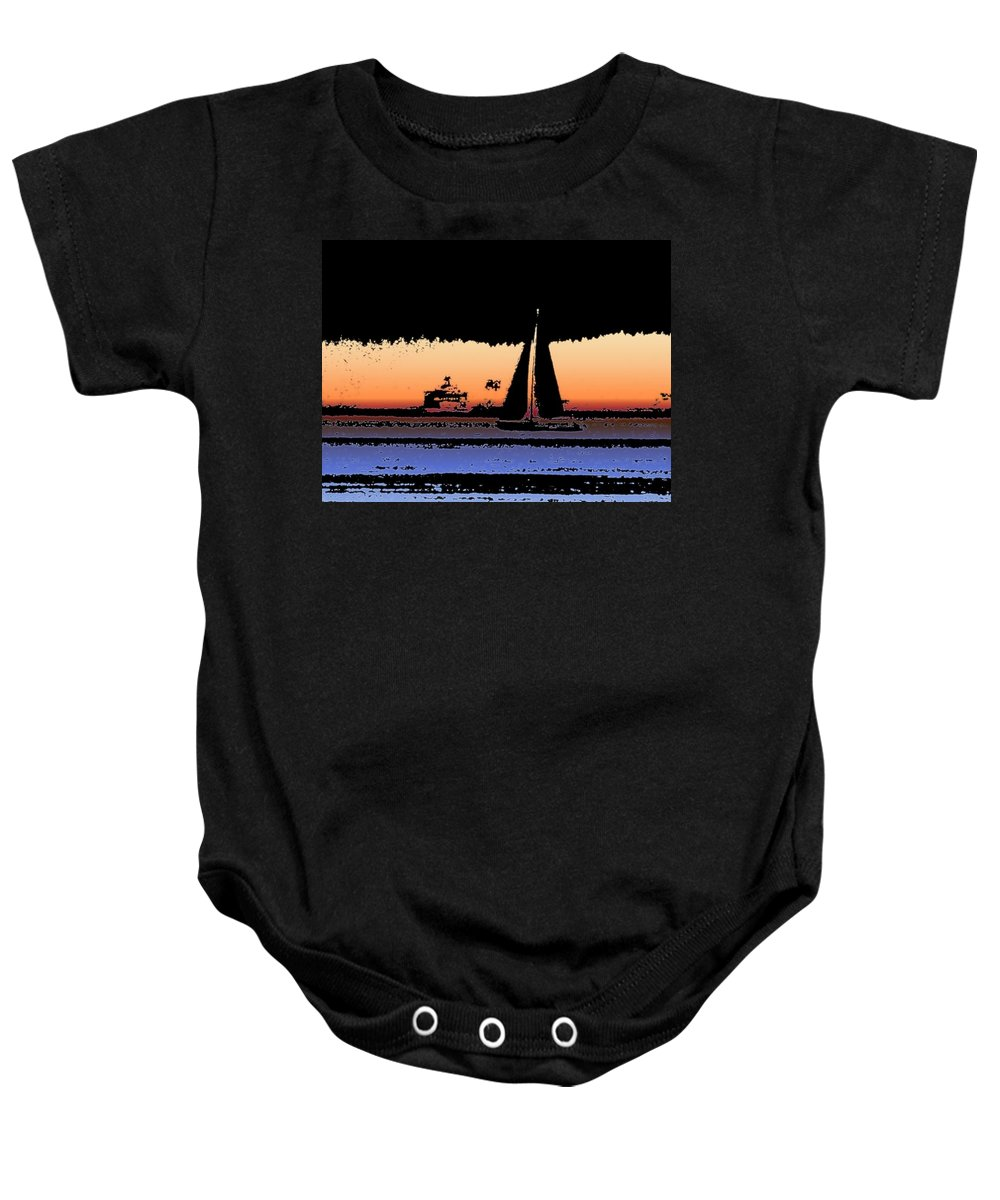 Seattle Baby Onesie featuring the photograph Sound Sailin 2 by Tim Allen