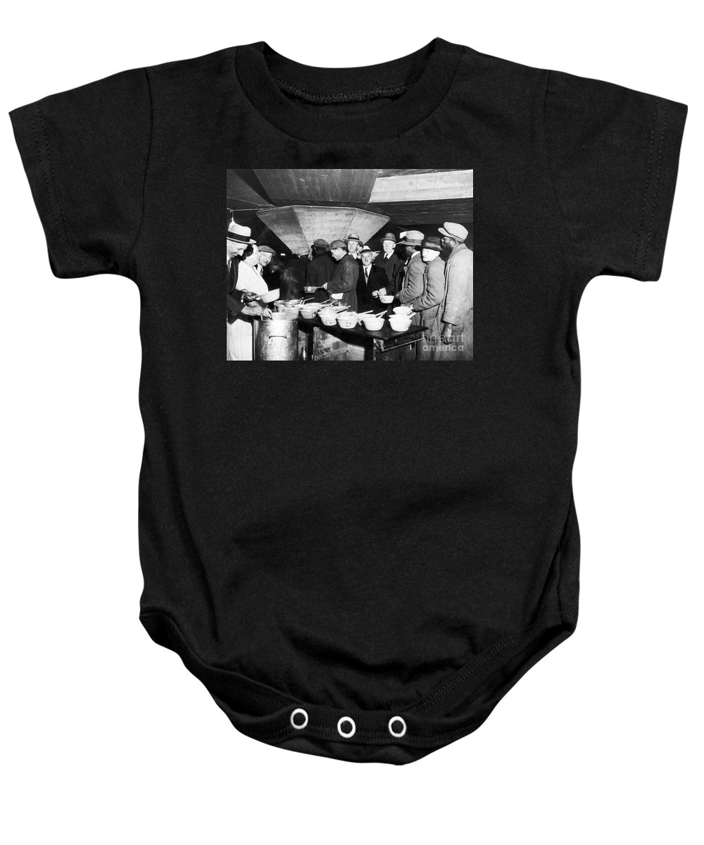 1931 Baby Onesie featuring the photograph Soup Kitchen, 1931 by Granger