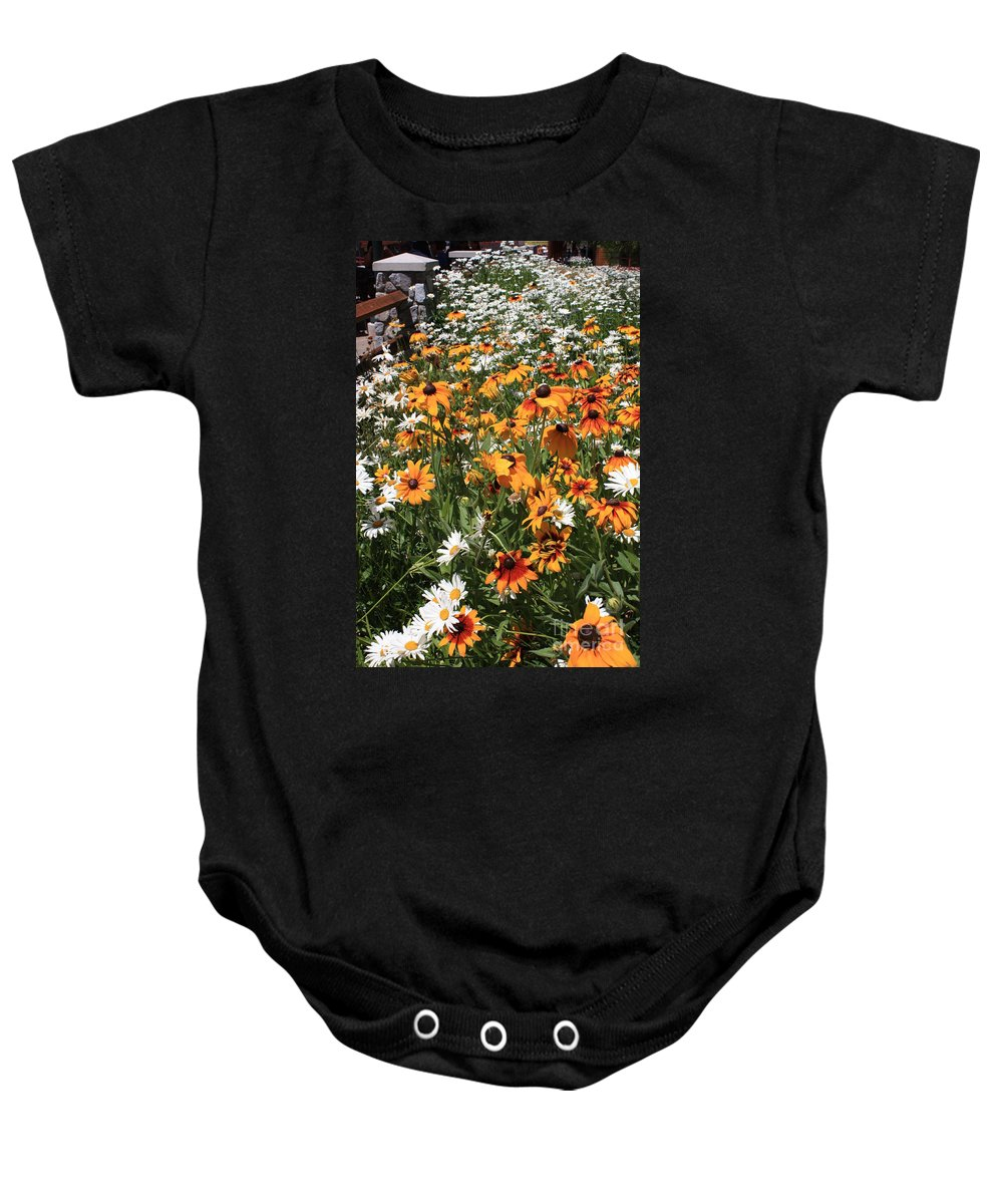 Flowers Baby Onesie featuring the photograph South Lake Tahoe Flowers by Carol Groenen