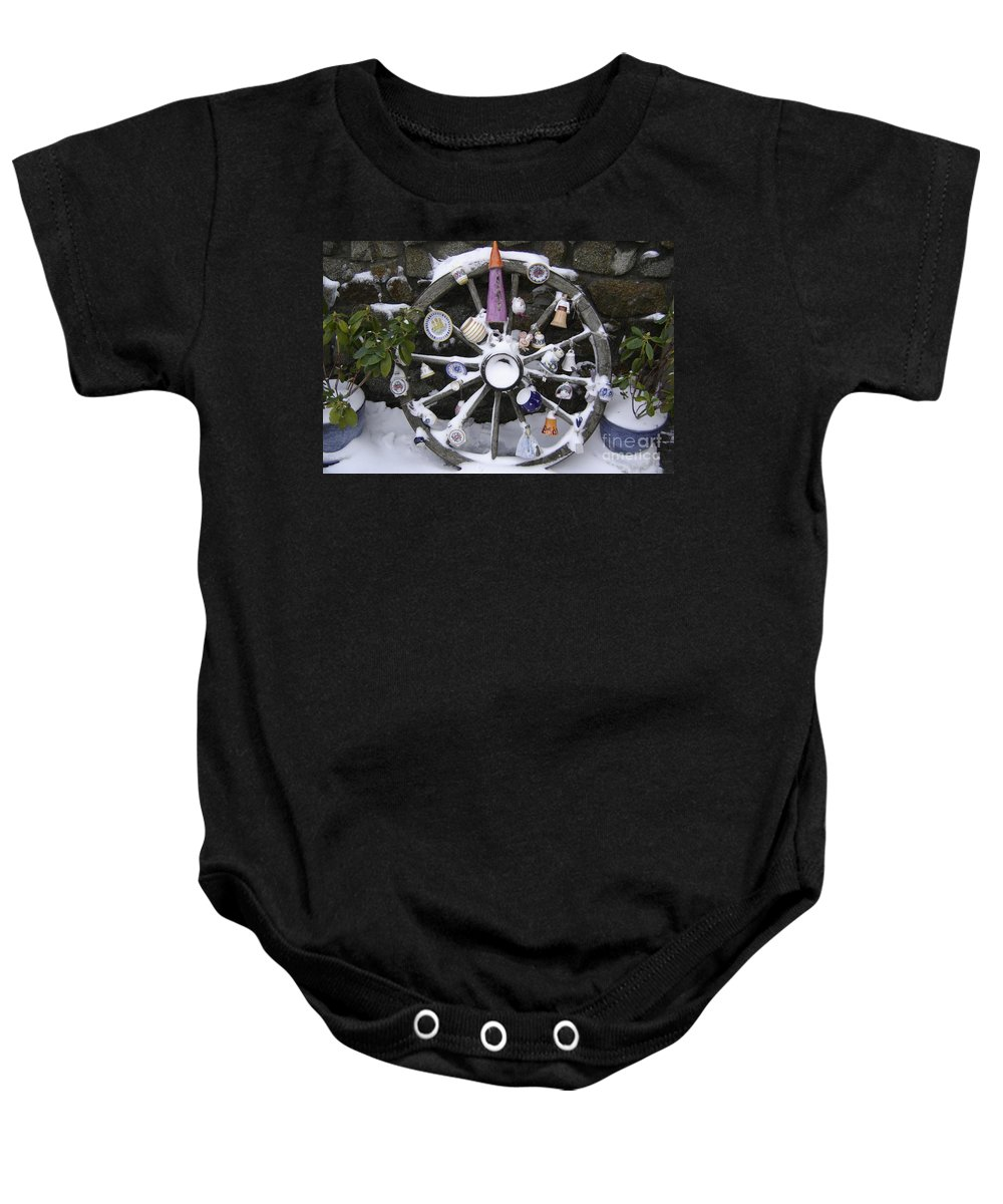 Snow Baby Onesie featuring the photograph Souvenirs by Mary Rogers