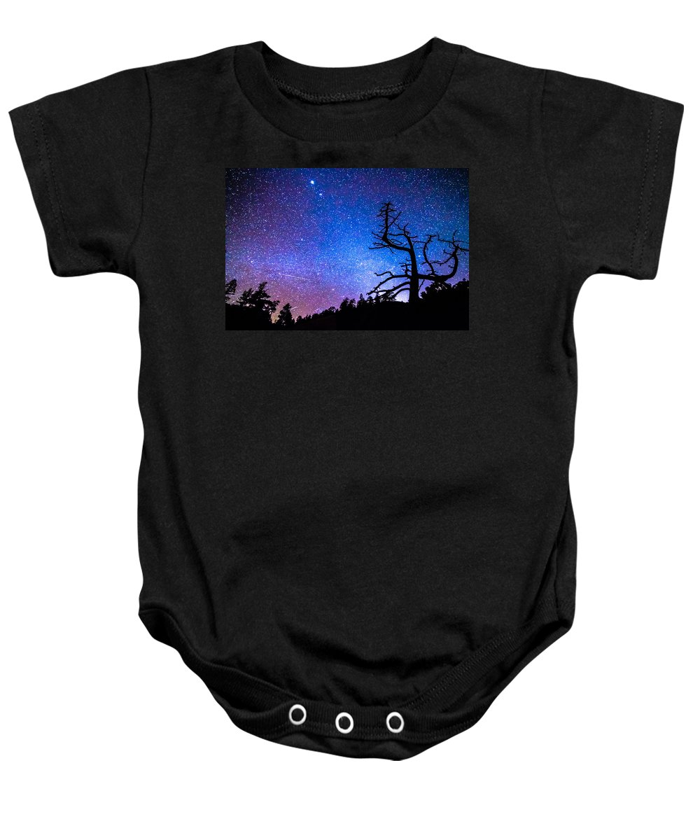 Sky Baby Onesie featuring the photograph Space The Final Frontier by James BO Insogna