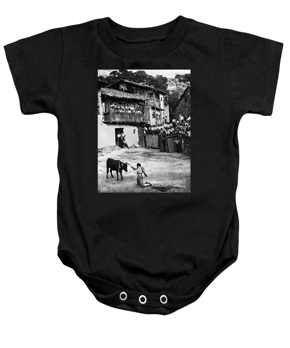20th Century Baby Onesie featuring the photograph Spain: Bullfight by Granger