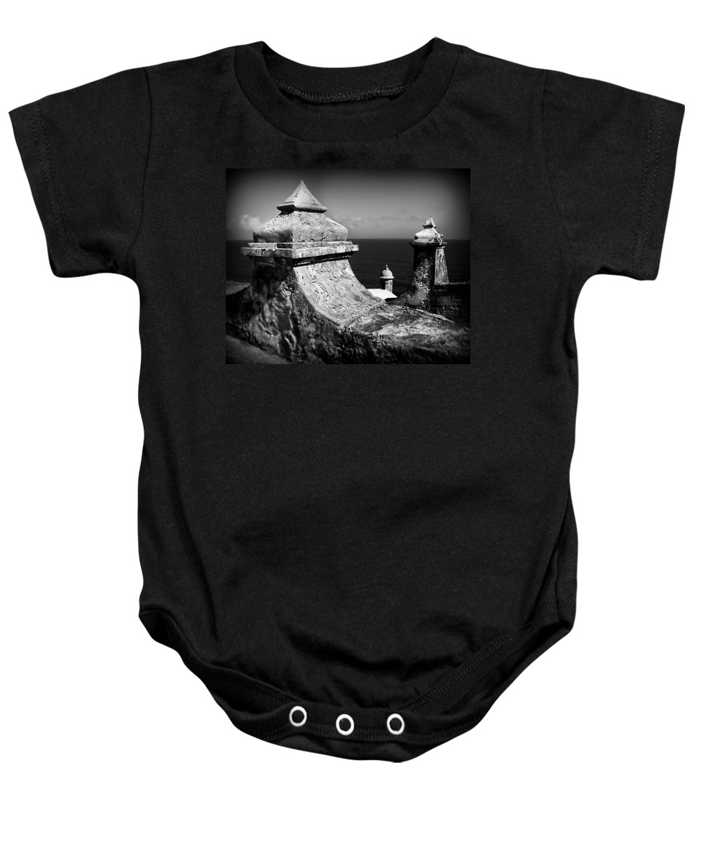 Fort Baby Onesie featuring the photograph Spanish View by Perry Webster