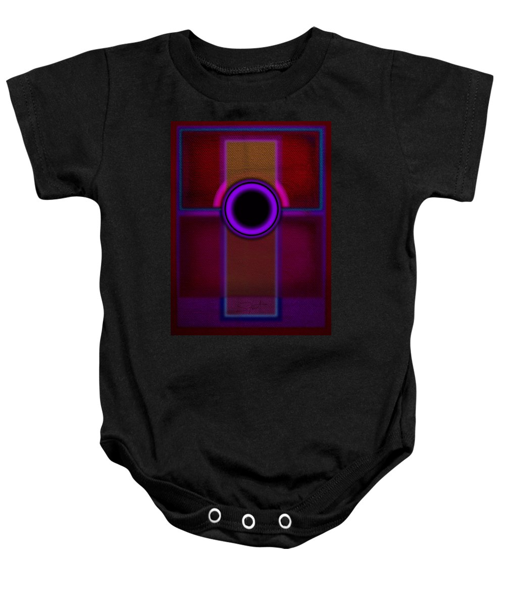 Portal Baby Onesie featuring the painting Speaker by Charles Stuart
