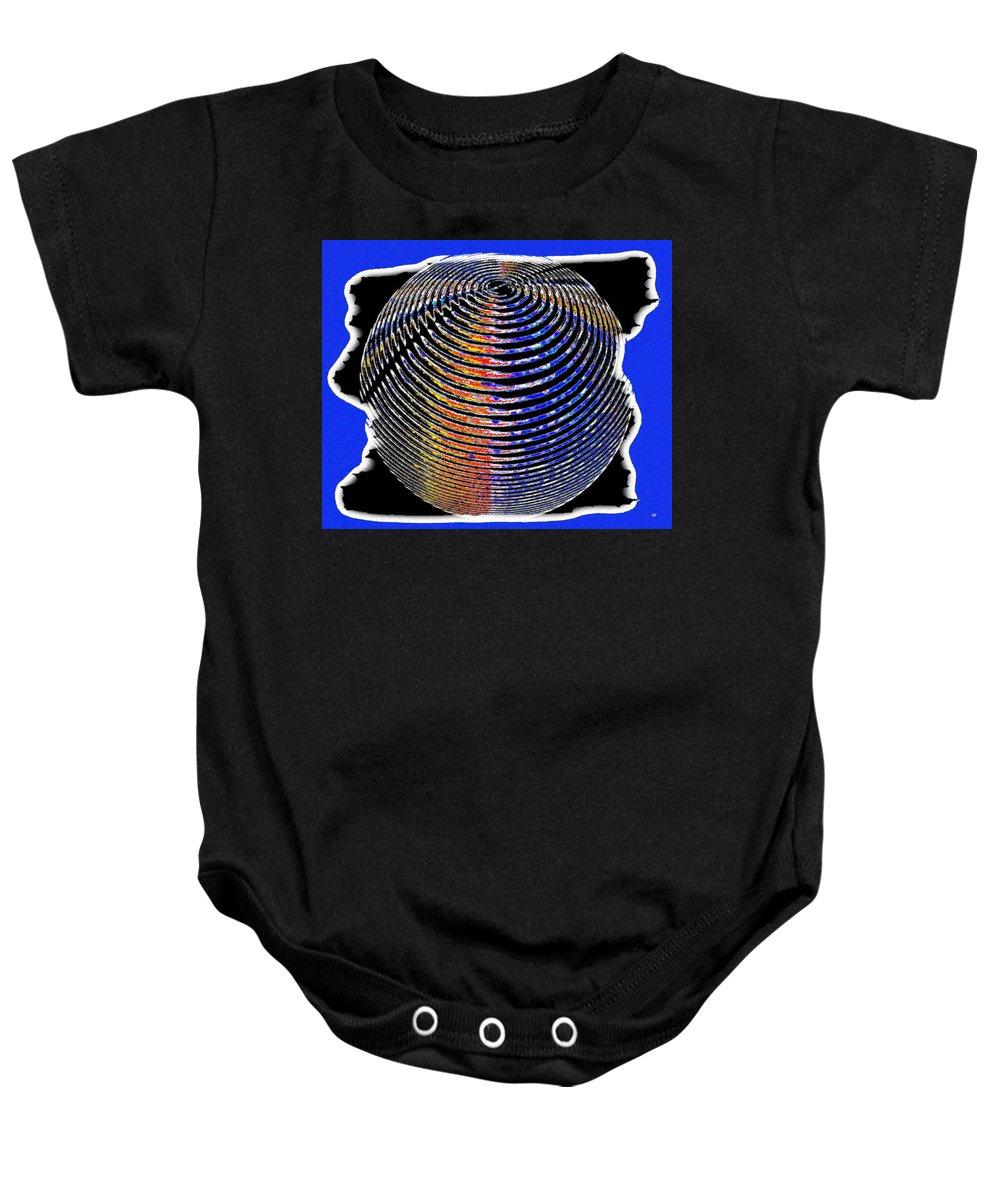 Sphere Baby Onesie featuring the digital art Sphere In Blue by Will Borden
