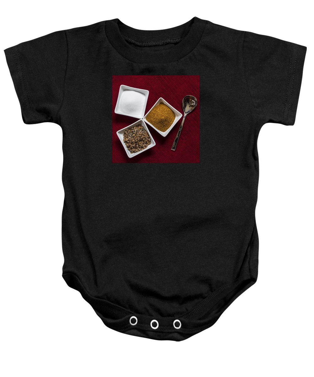 Spices Baby Onesie featuring the photograph Spices 6070 by Karen Celella