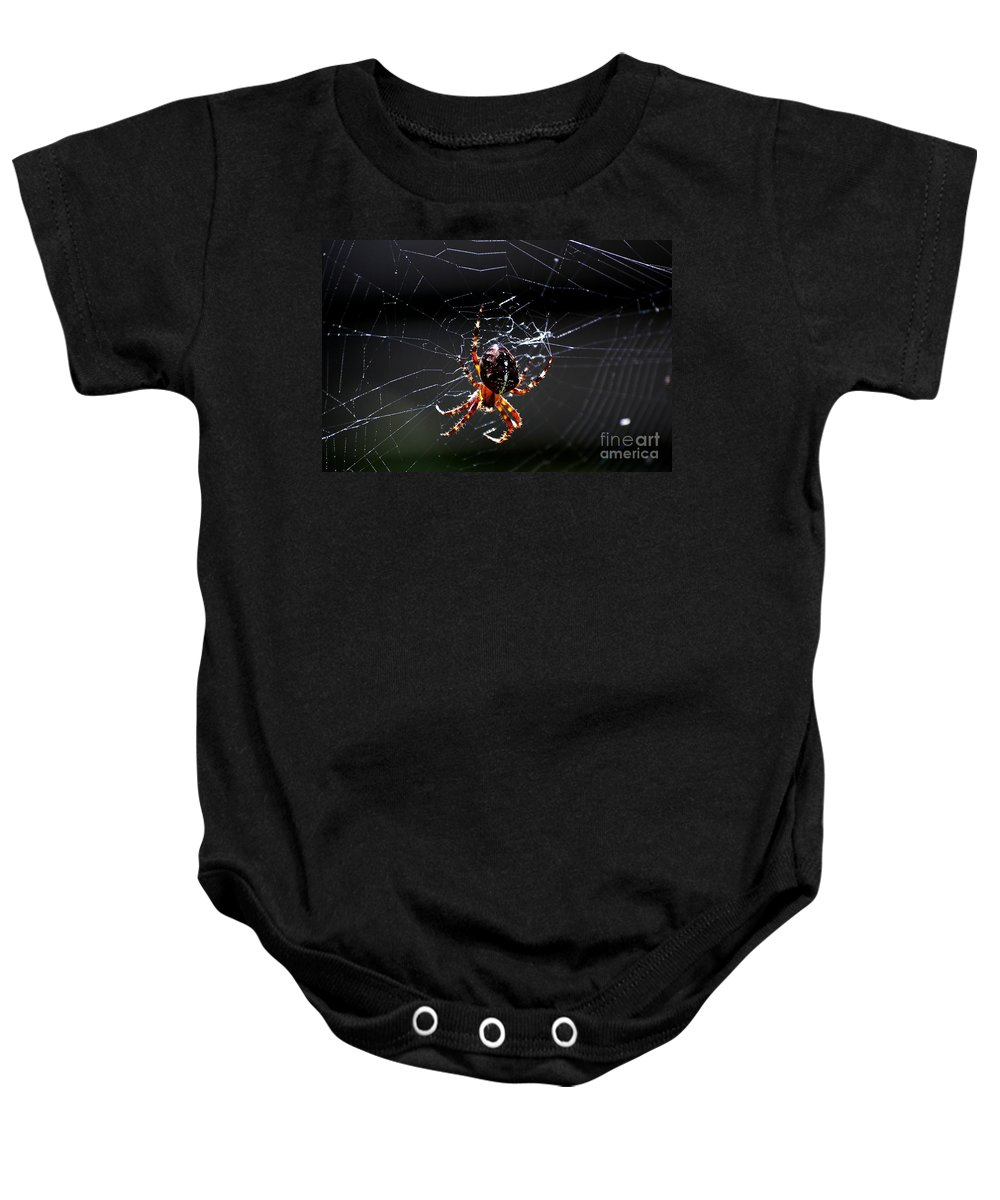 Digital Photo Baby Onesie featuring the photograph Spider by David Lane