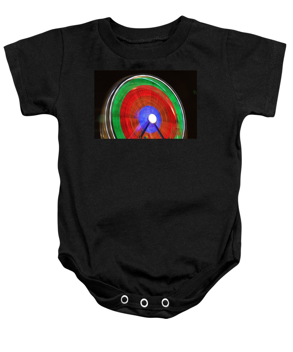 Spinning Wheels Baby Onesie featuring the photograph Spinning Wheels by James BO Insogna