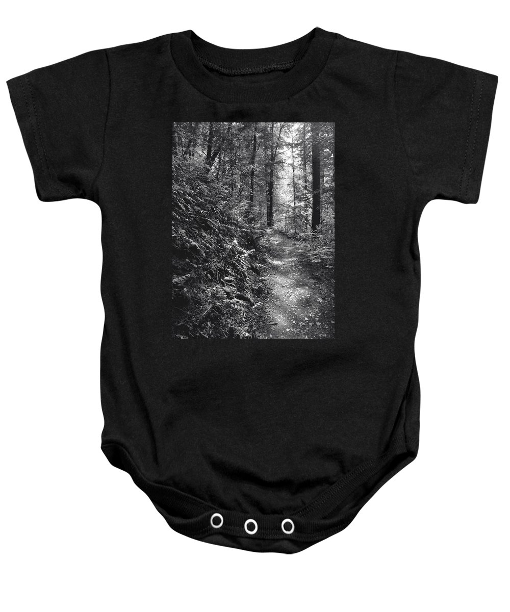 Landscape Baby Onesie featuring the photograph Spirit Of The Wood by Karen W Meyer